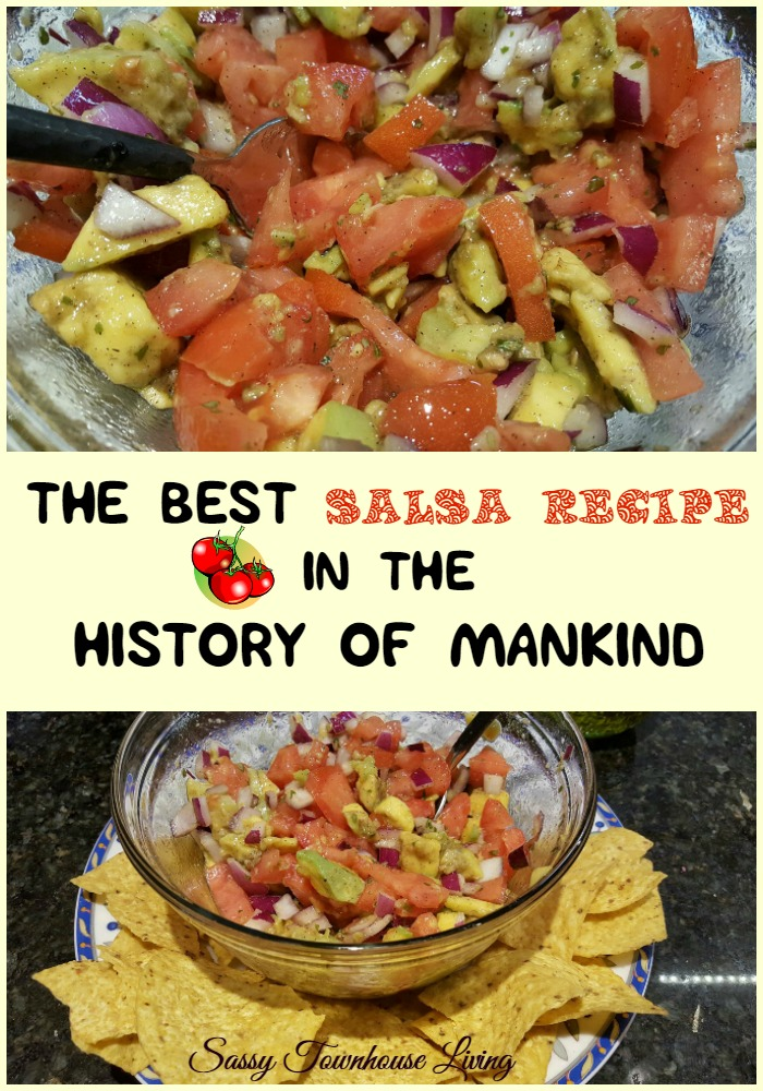 The Best Salsa Recipe In The History Of Mankind - Sassy Townhouse Living