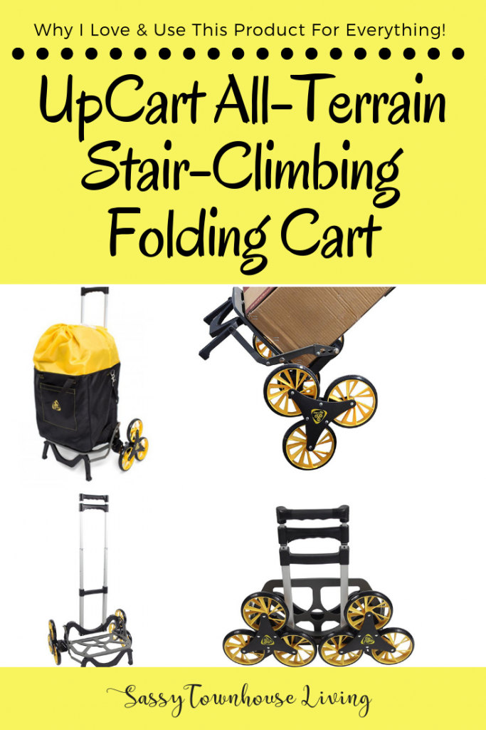 UpCart All-Terrain Stair-Climbing Folding Cart - Sassy Townhouse Living