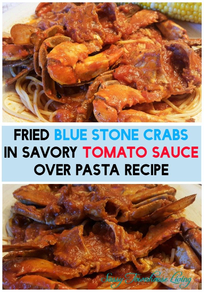 fried-blue-stone-crabs-in-savory-tomato-sauce-over-pasta-recipe