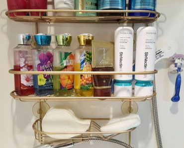 How To Easily Restore Your Rusty Shower Caddy To Brand New - Sassy Townhouse Living