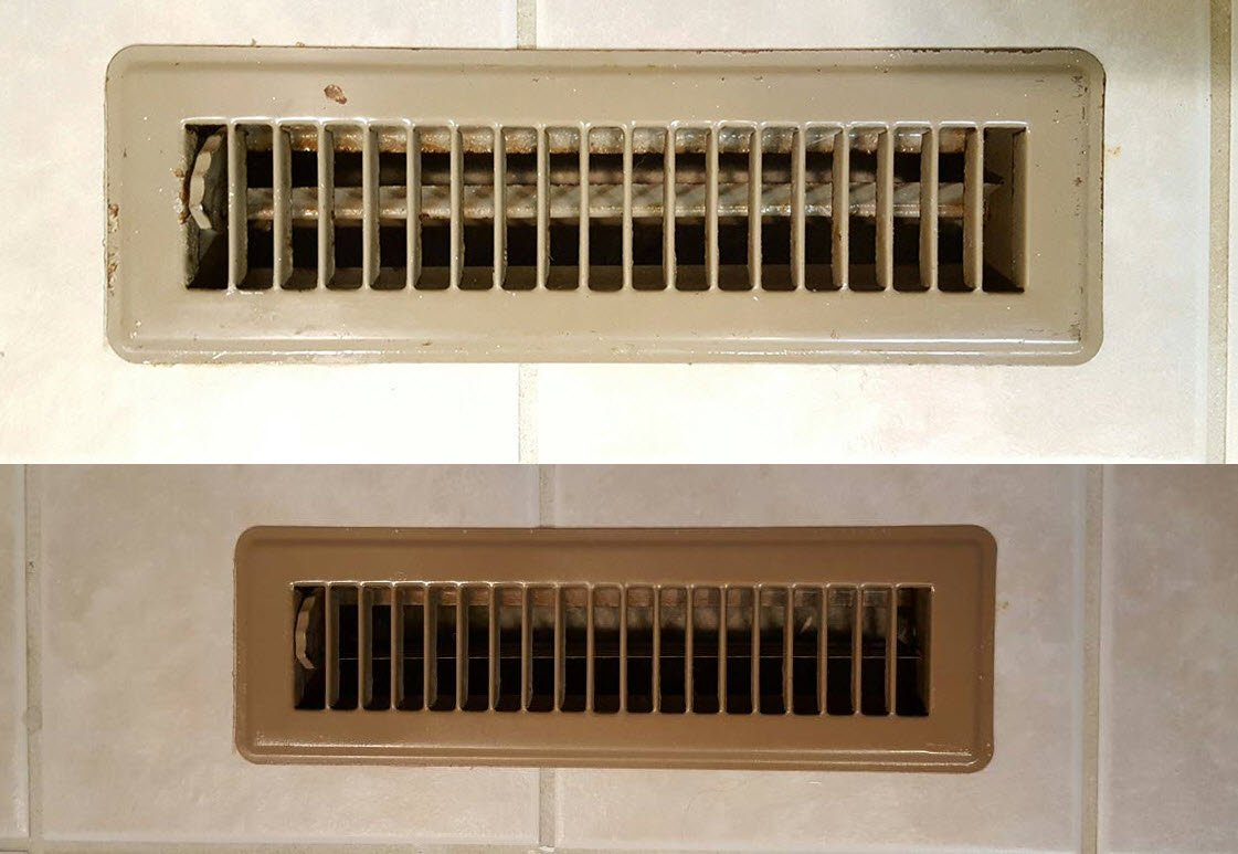 How To Easily Transform Old Floor Vents To Brand New - Sassy Townhouse Living