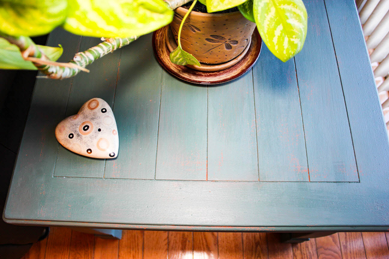 An Old End Table Gets A Sassy Update With Milk Paint