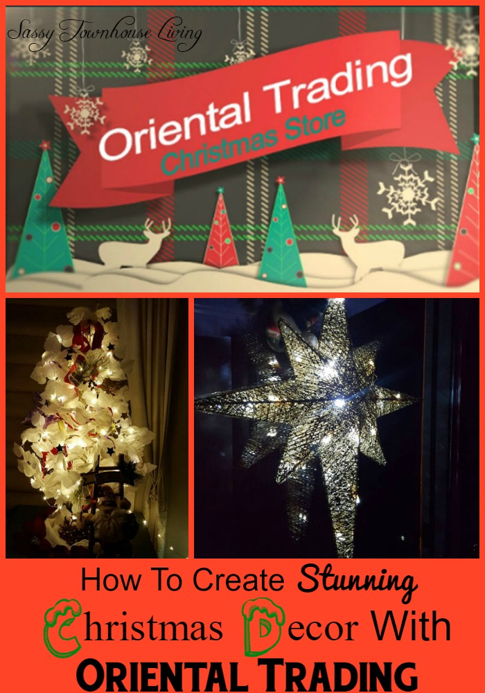 How To Create Stunning Christmas Decor With Oriental Trading - Sassy Townhouse Living