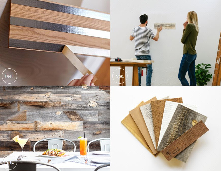 real wood decor stikwood is a peel and stick real wood decor rethink your walls Sassy Townhouse Living