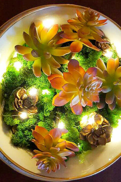 How To Make A Stunning Artificial Succulent Garden Centerpiece -
