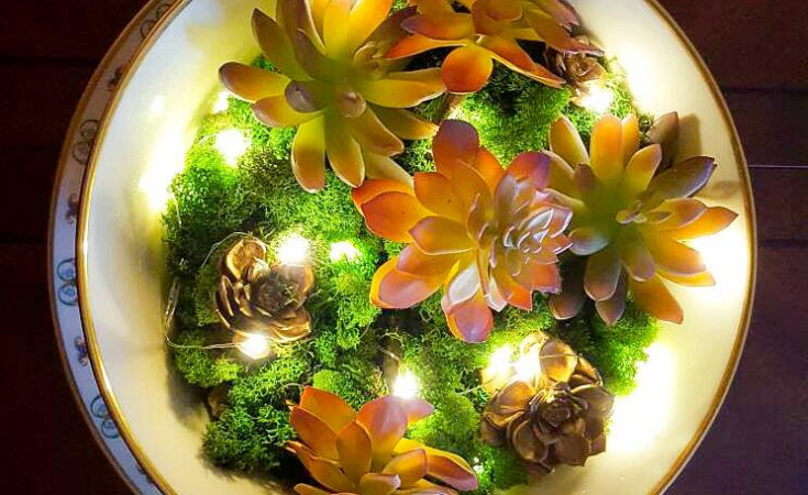 How To Make A Stunning Artificial Succulent Garden Centerpiece -