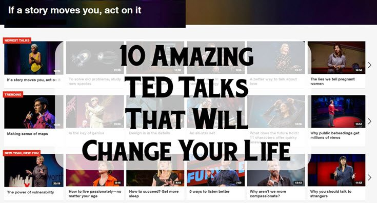 10 Amazing TED Talks That Will Change Your Life Main Image