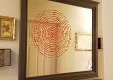 How To Stencil An Old Mirror Back To Beautiful & A $50 Stencil Giveaway
