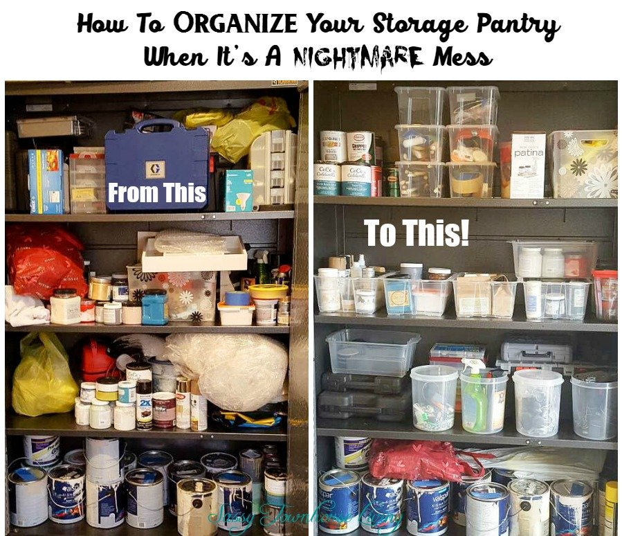 how to organise kitchen storage how to organize your storage pantry when it s a nightmare mess 7293