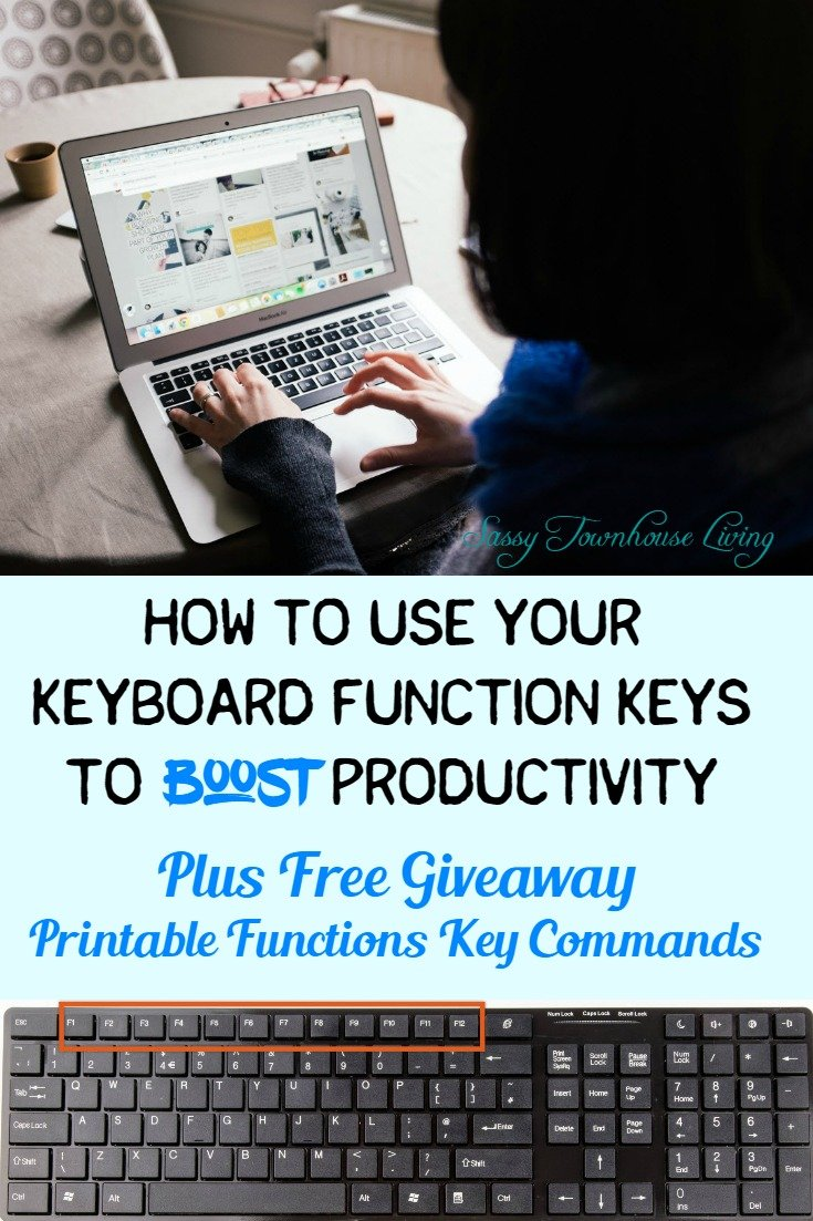 How To Use Your Keyboard Function Keys To Boost Productivity - Sassy Townhouse Living