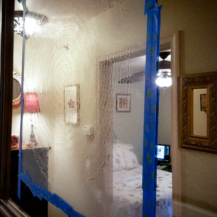 How To Stencil An Old Mirror Back To Beautiful