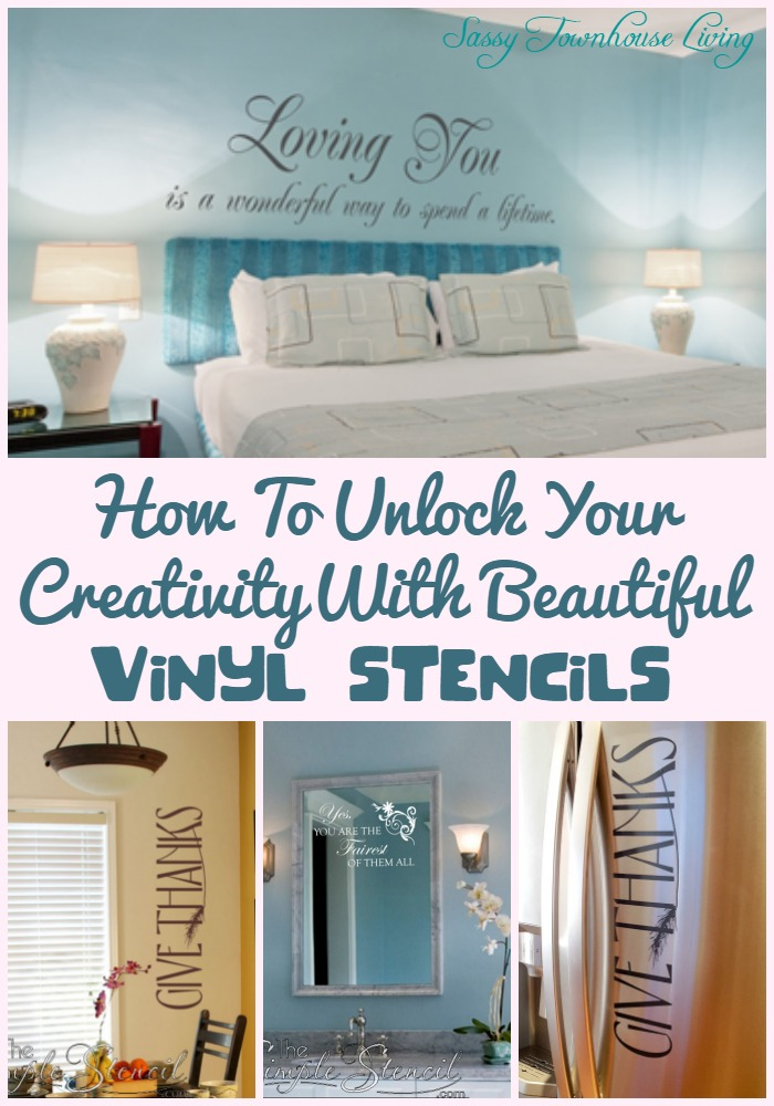 How To Unlock Your Creativity With Beautiful Vinyl Stencils - Sassy Townhouse Living