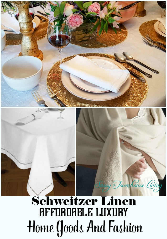Schweitzer linen affordable luxury home goods and fashion for Affordable home goods