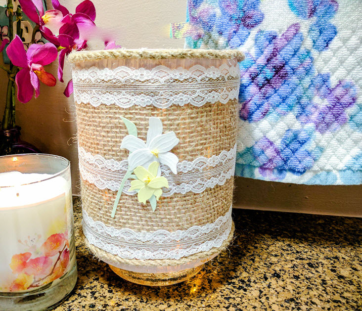 How To Easily Create A Charming Farmhouse Lighted Jar