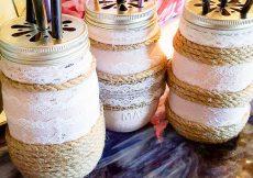 How To Easily Create Stunning Farmhouse Mason Jars -