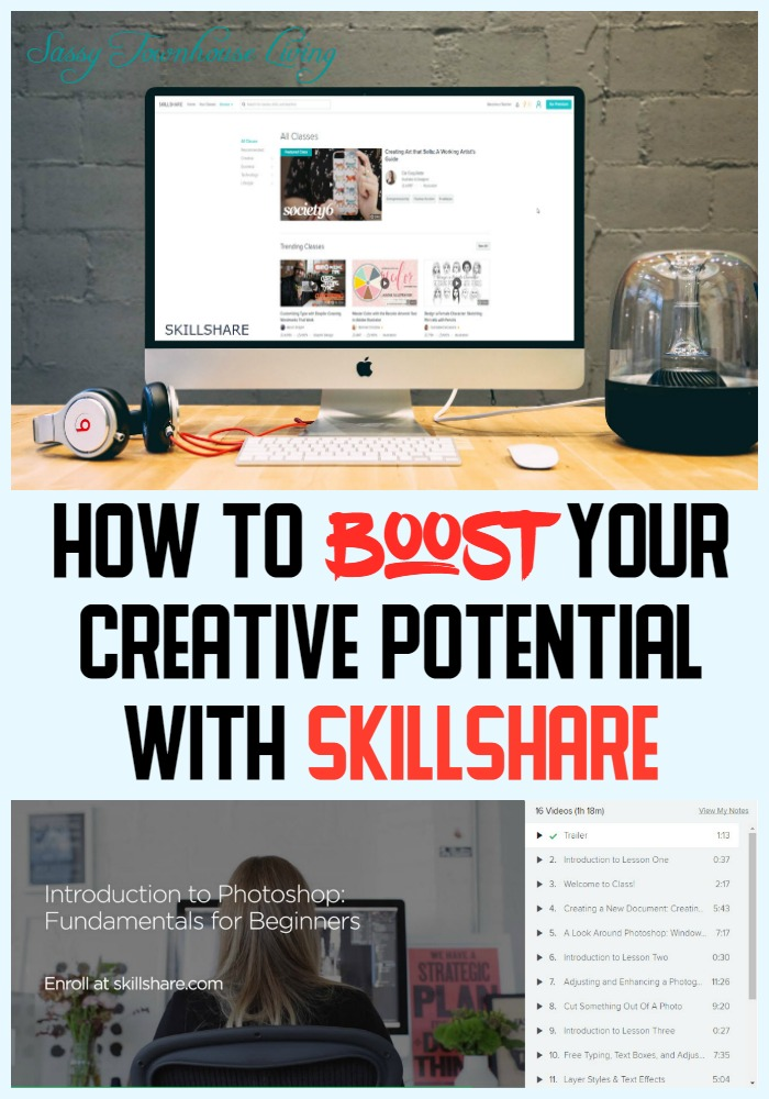 How To Boost Your Creative Potential With Skillshare - Sassy Townhouse Living