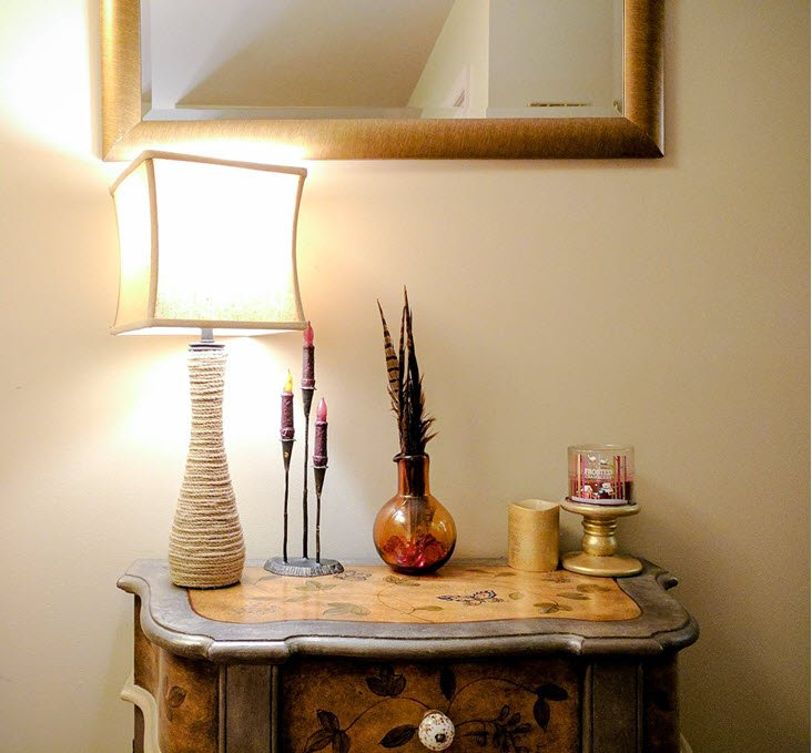 Make Your Own Pier One Rope Lamp Knock Off