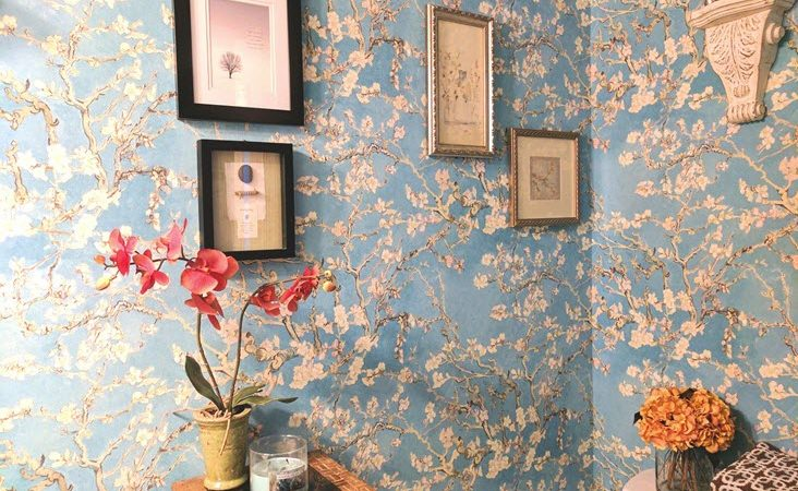 You Will Love This Gorgeous Bathroom Wallpaper Transformation