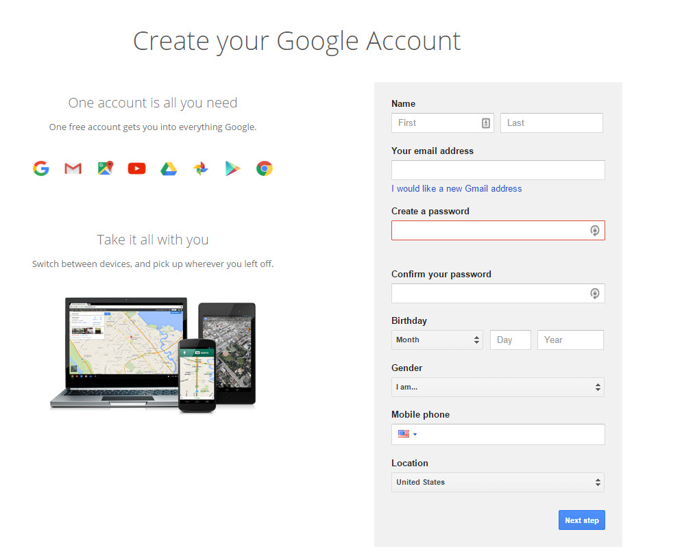 Google Account Links