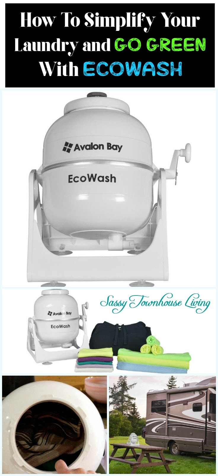 How To Simplify Your Laundry and Go Green With EcoWash - Sassy Townhouse Living