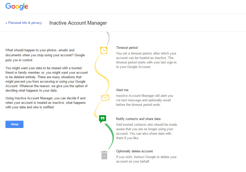 Google Account Links