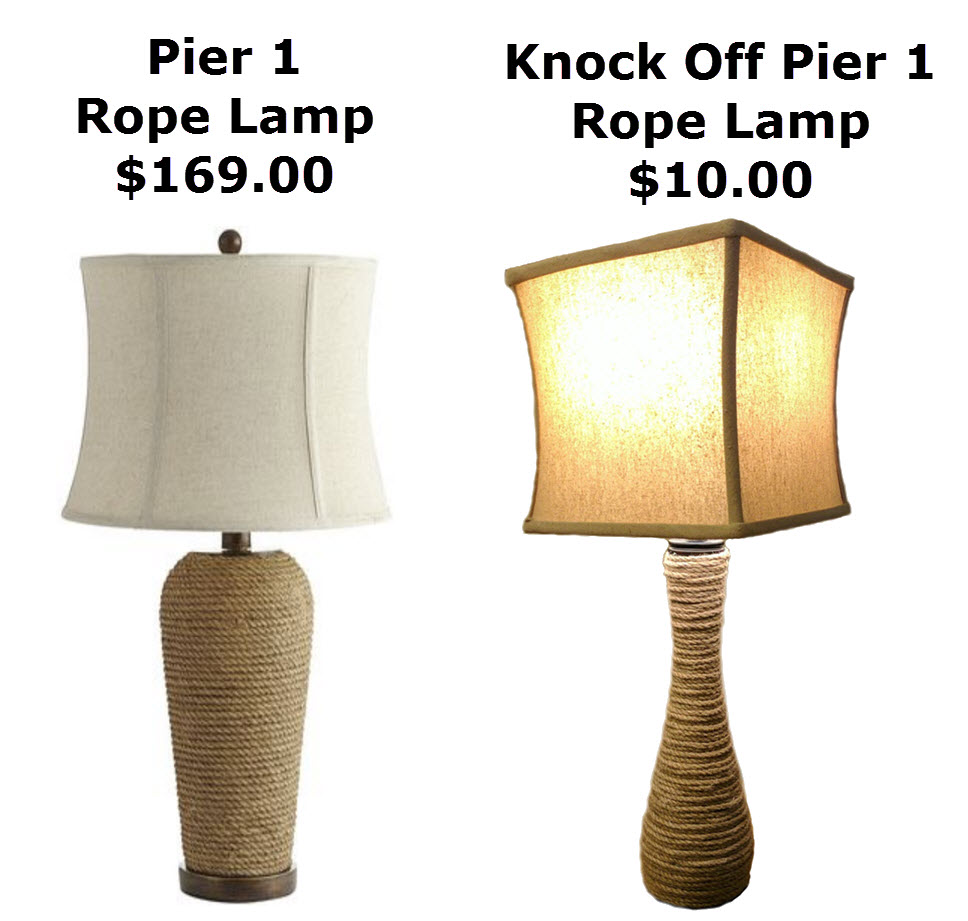 Pier 1 Rope Lamp Knock Off
