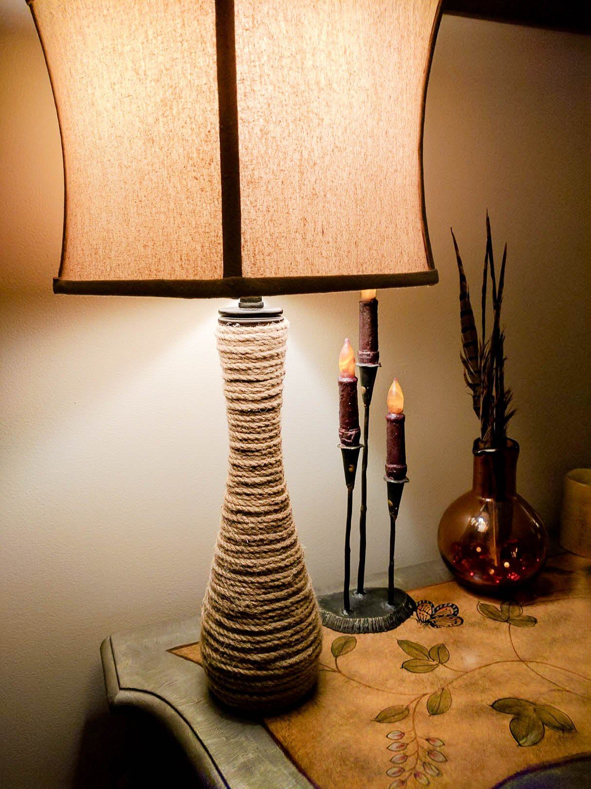Pier One Rope Lamp Knock Off