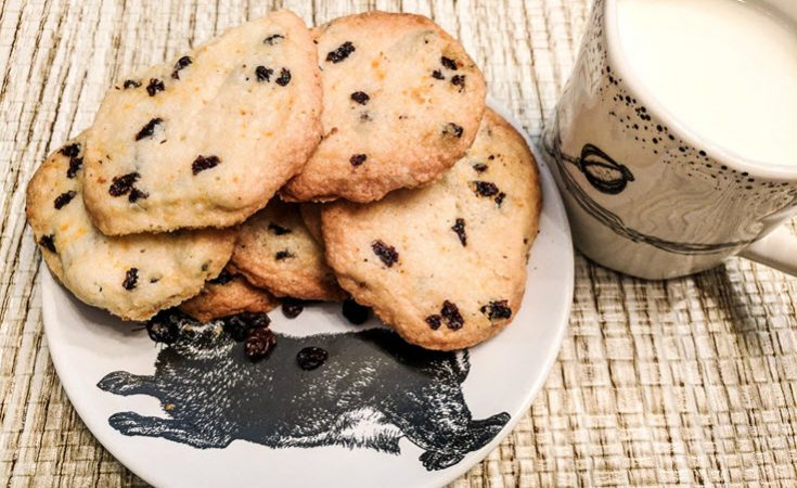 Currant And Orange Shortbread Cookies