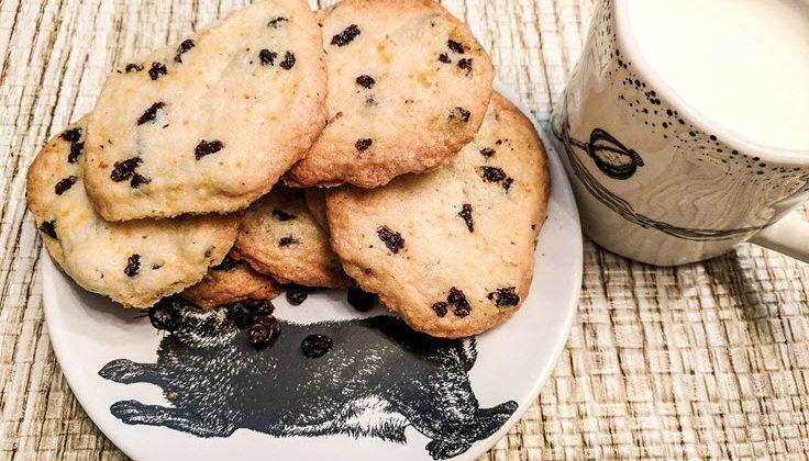 Currant And Orange Shortbread Cookies