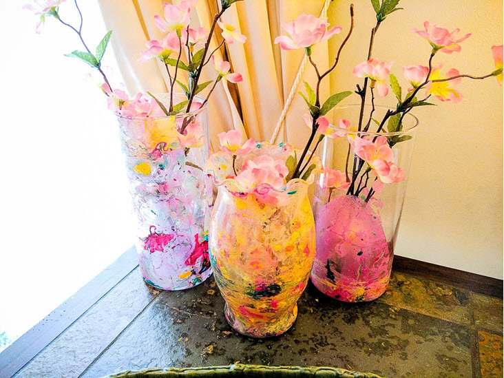 How To Create Stunning Marble Dipped Vases With Nail Polish