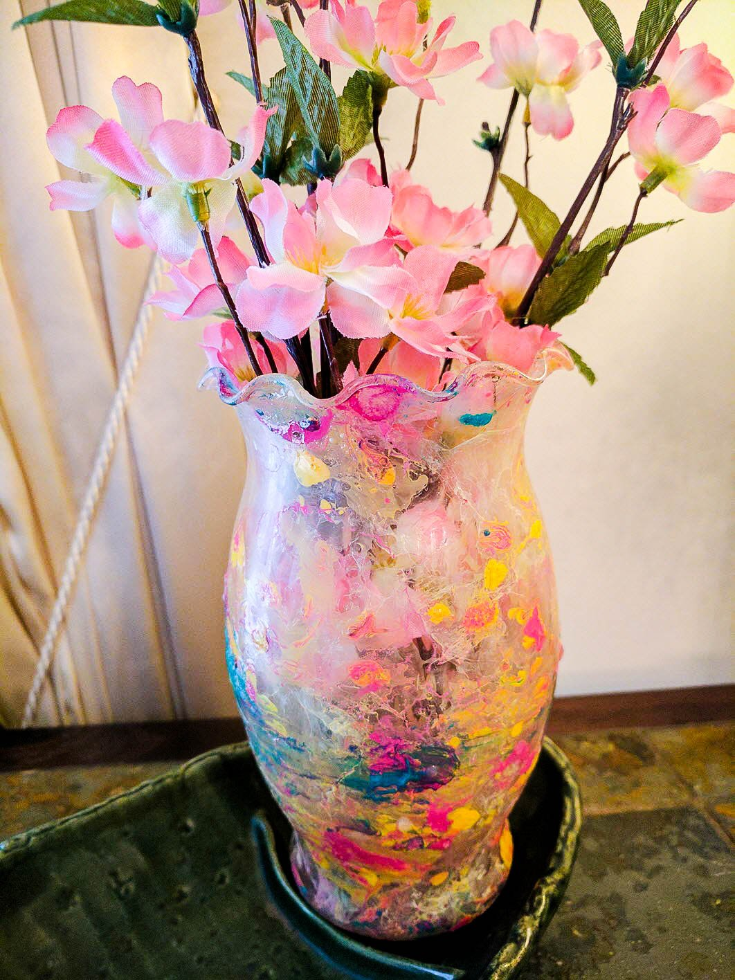 Marble Dipped Vases With Nail Polish