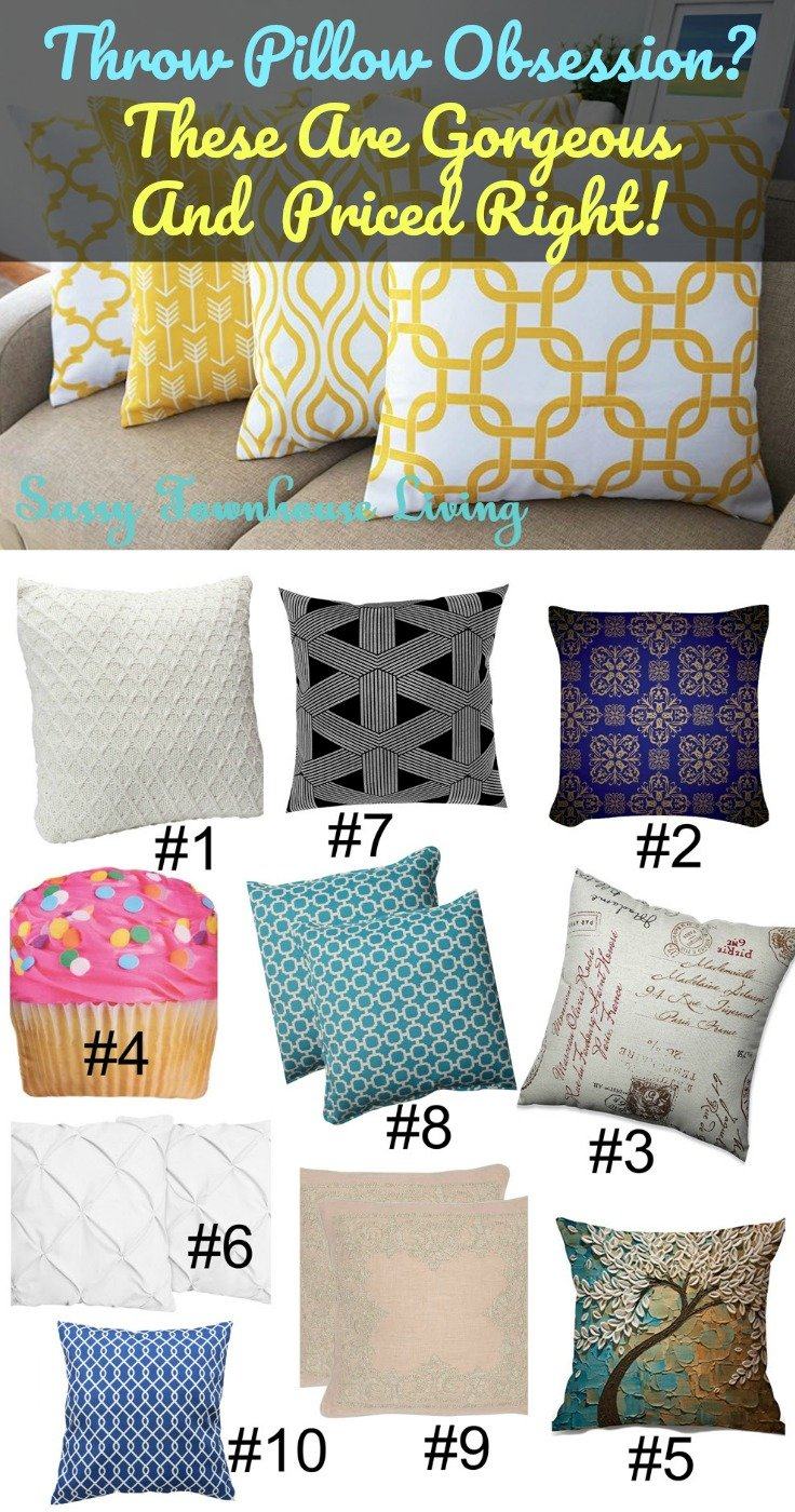 Throw Pillow Obsession These Are Gorgeous And Priced Right! Sassy Townhouse Living