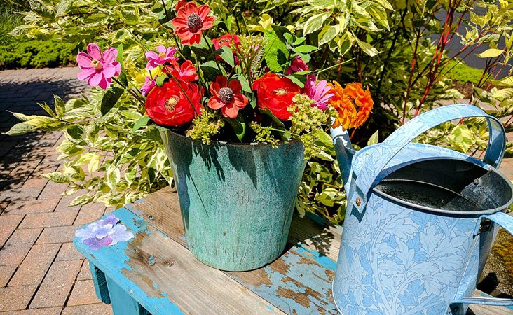 Upcycle Plastic Flower Pots