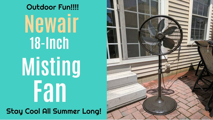 Stay Cool Outdoors With The Newair Outdoor Misting Fan