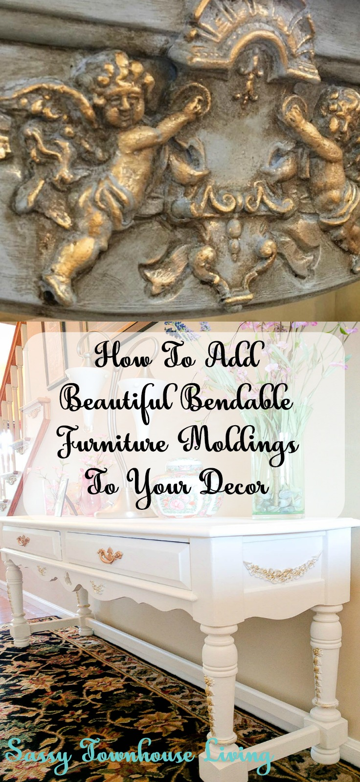 How To Add Beautiful Bendable Furniture Moldings To Your Decor - Sassy Townhouse Living