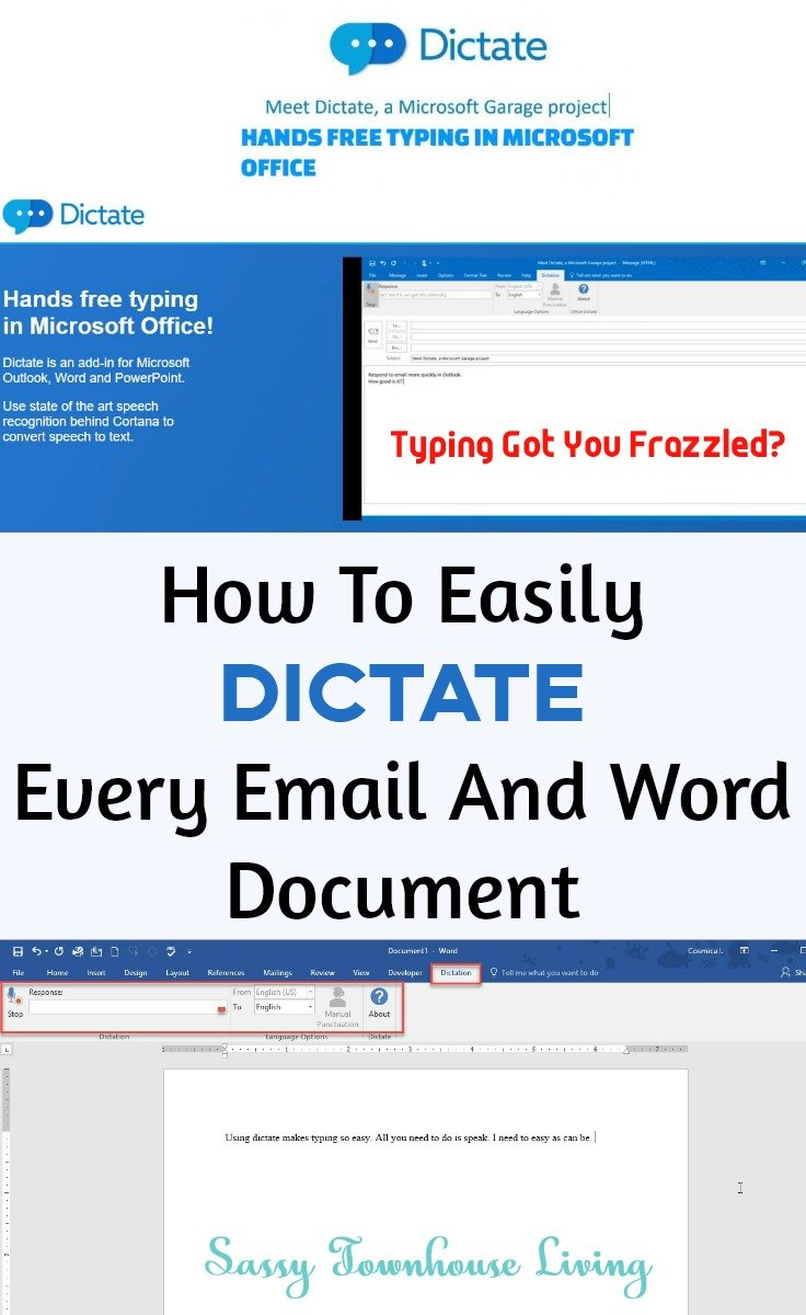 How To Easily Dictate Every Email And Word Document - Sassy Townhouse Living