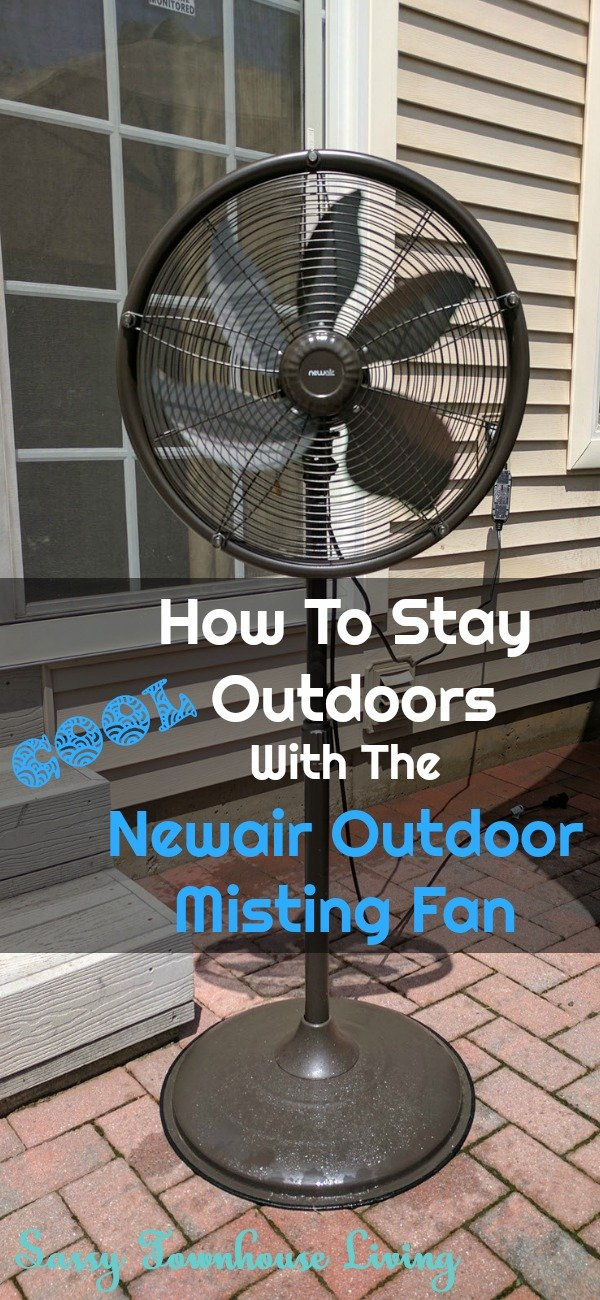 How To Stay Cool Outdoors With The Newair Outdoor Misting Fan - Sassy Townhouse Living