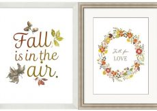 Pottery Barn Autumn Framed Art Knock-Off Printables