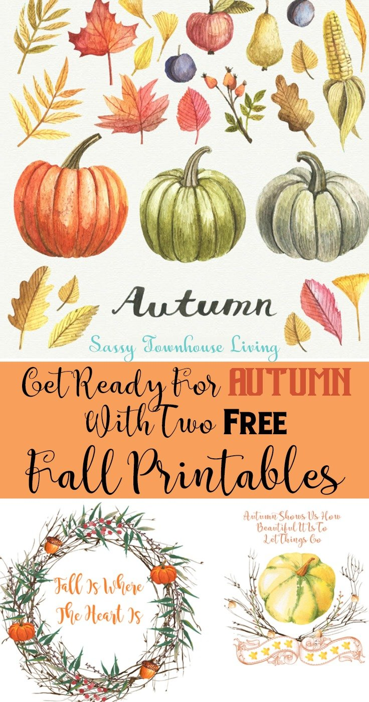 Get Ready For Autumn With Two Free Fall Printables - Sassy Townhouse Living