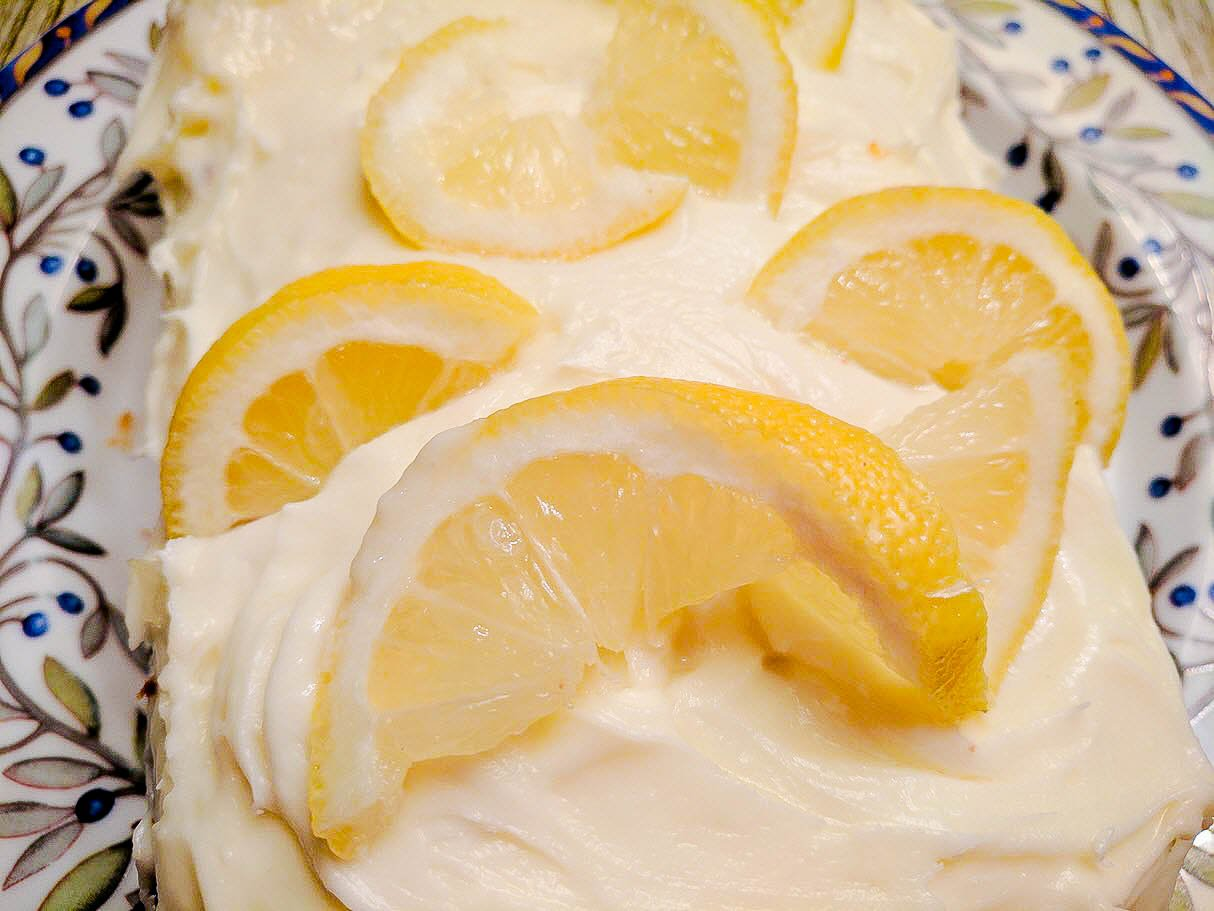 Lemon Pound Cake With Lemon Cream Cheese Frosting