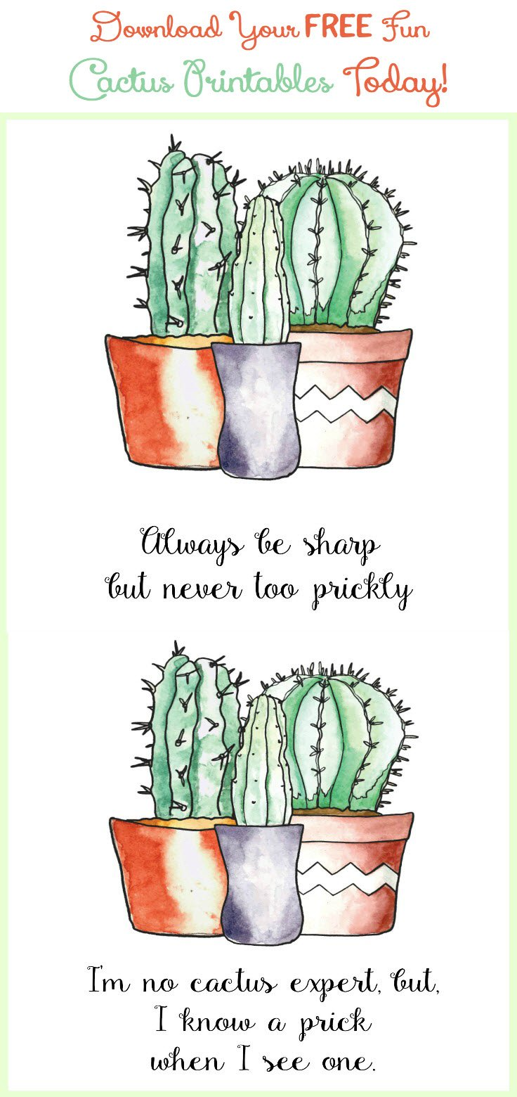 More Printables! Download Your Free Fun Cactus Printables Today - Sassy Townhouse Living