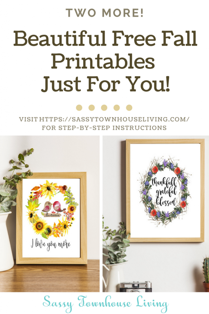 Beautiful Free Fall Printables Just For You! Sassy Townhouse Living