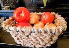 Jute Metal Basket