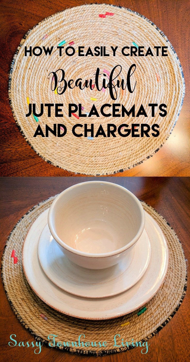 How To Easily Create Beautiful Jute Placemats And Chargers - Sassy Townhouse Living