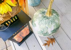Decoupage Painted Pumpkin