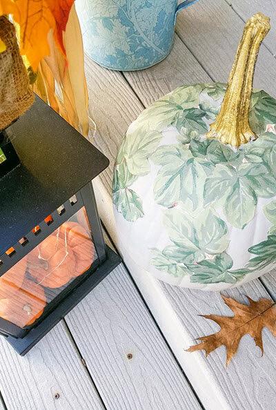 Decoupage Painted Pumpkin