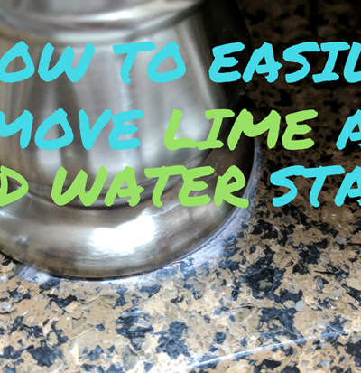 Remove Lime and Hard Water Stains