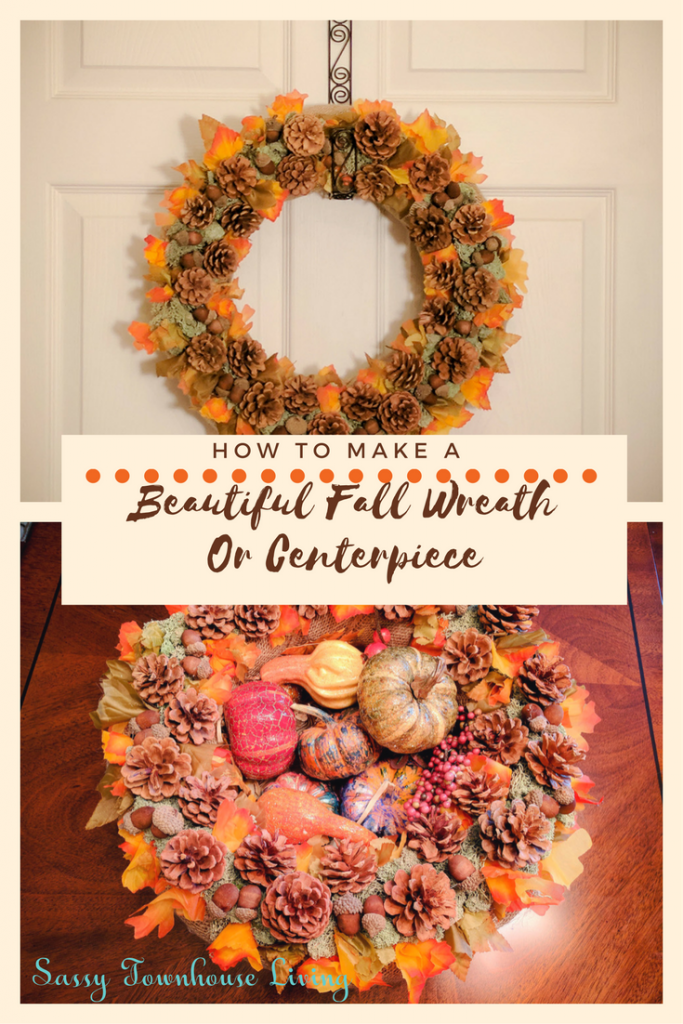 How To Make A Beautiful Fall Wreath Or Centerpiece_Sassy Townhouse Living