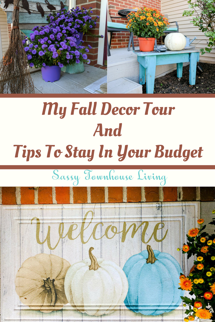 My Fall Decor Tour And Tips To Stay In Your Budget-Sassy Townhouse Living