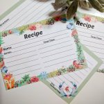 Printable Winter Recipe Cards For You – 2 Styles